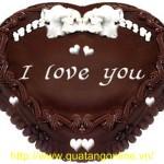Bánh kem socola tình yêu BK019