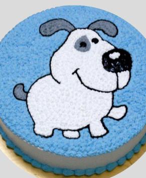 Bánh kem bánh sinh nhật hình chú chó dễ thương BK031