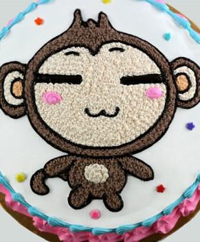 Bánh kem bánh sinh nhật hình chú khỉ BK032