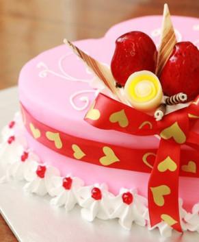 Bánh kem bánh sinh nhật hình trái tim BK029