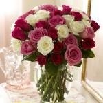 Bình hoa hồng HT012