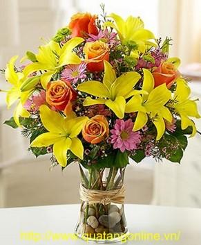 Bình hoa tươi HT014