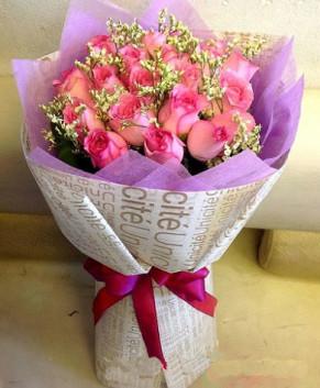 Bó hoa hồng cánh sen HT158