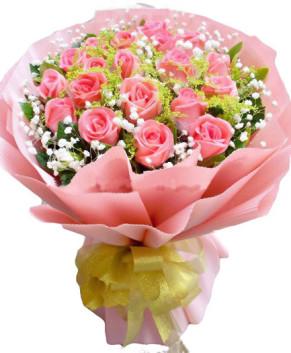 Bó hoa hồng phớt yêu kiều HT164