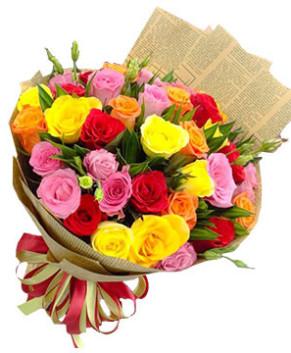 Bó hoa hồng sắc màu cuộc sống HT165