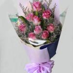 Bó hoa hồng tím nồng nàn ht167