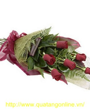 Bó hoa hồng nhung HT026