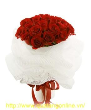 Bó hoa hồng nhung HT030