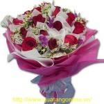Bó hoa hồng nhung HT038
