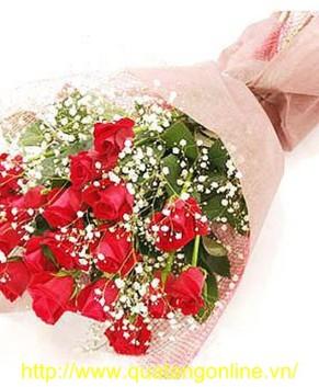 Bó hoa hồng đỏ HT046
