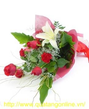 Bó hoa hồng đỏ HT052