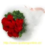 Bó hoa hồng nhung HT072
