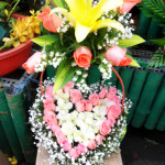 Giỏ hoa trái tim HT081