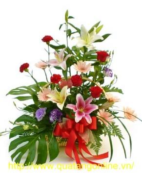 Giỏ hoa tươi HT085