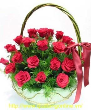 Giỏ hoa hồng HT098