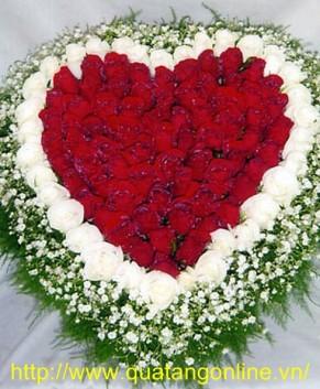 Hoa hồng trái tim HT117