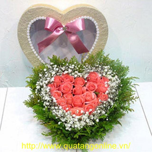 Hộp Hoa Trái Tim - Hoa Tình Yêu